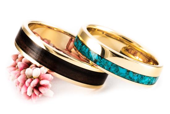 ładne złote obrączki ślubne